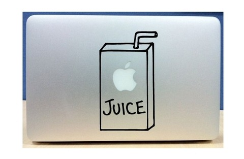 Apple juice box vinyl macbook laptop decal sticker graphic more info