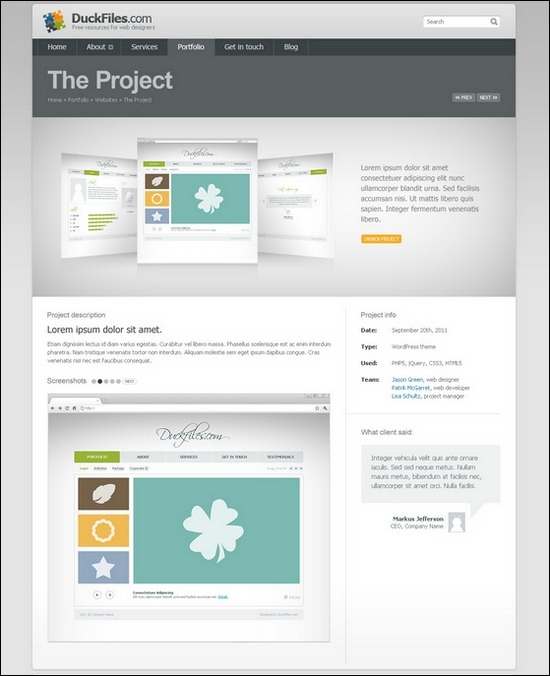 Creative Portfolio Website PSD Templates - Basic website templates