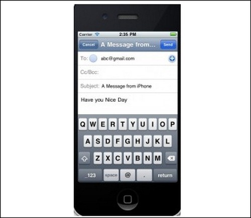 emailsend-application-iphone