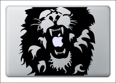 Lion decal for macbook air pro or ipad