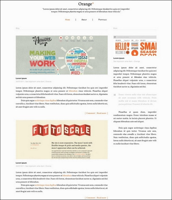 orange-blog-template