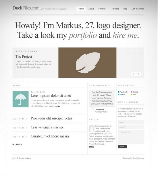 typography-website