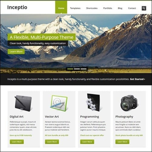 40 high quality business website templates inceptio business website template fbccfo Gallery