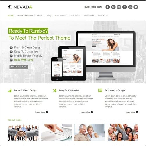 40 high quality business website templates nevada business website template flashek Image collections