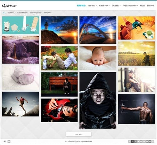064 WordPress masonry theme