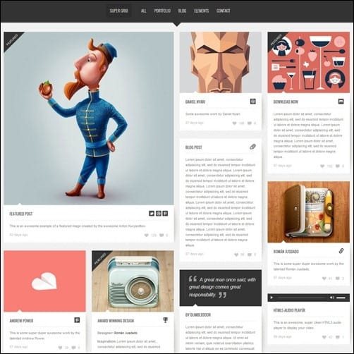 071 WordPress masonry theme