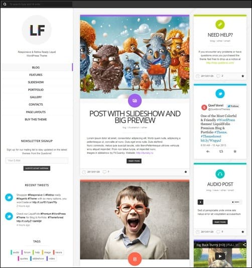 072 WordPress masonry theme