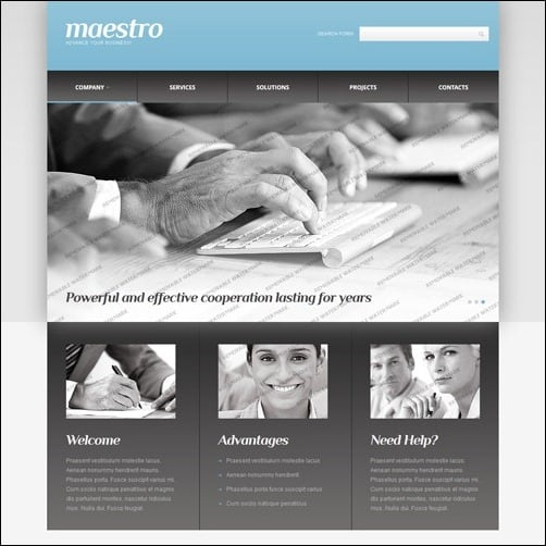 40 high quality business website templates white grey consulting business website template friedricerecipe Images