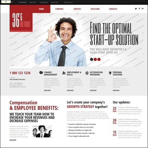 40 high quality business website templates white management business website template friedricerecipe Choice Image