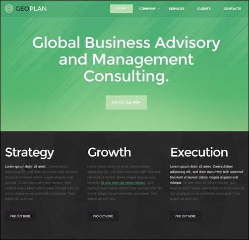 White & Green Management business website template