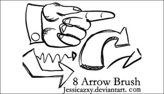 8-arrow-brush