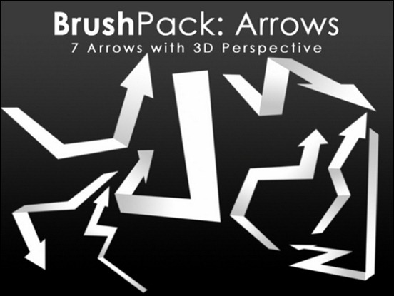 brushpack-3d-arrows