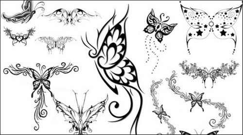 butterfly-brushes