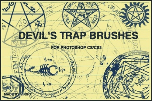 devil's-trap-brushes