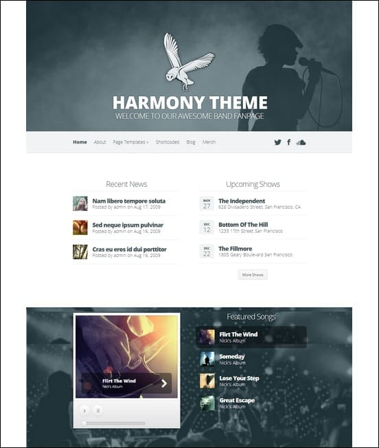 harmony-band-wordpress-theme