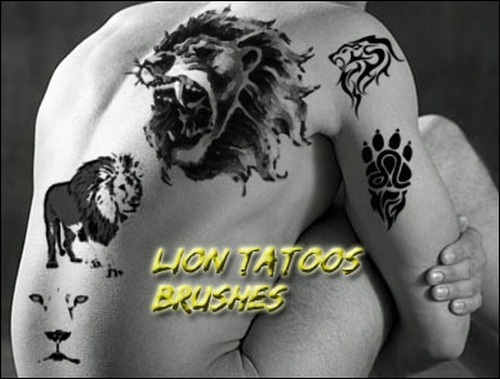 lion-tattoos-brushes