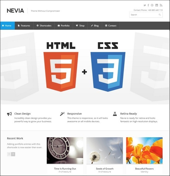 Nevia - Responsive Multi-Purpose WordPress Theme