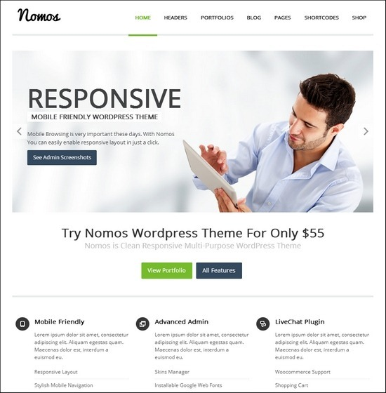 nomos-clean-business-theme