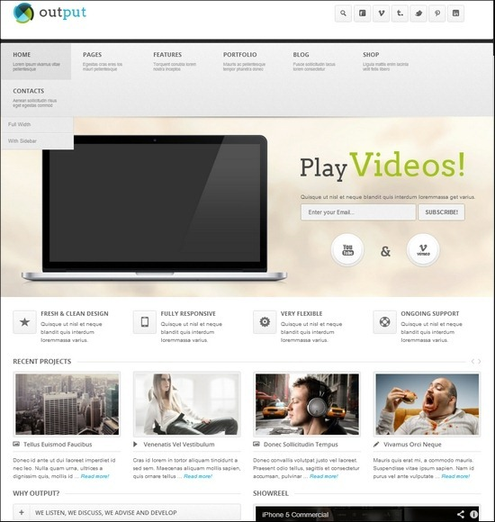 output-responsive-wp-theme