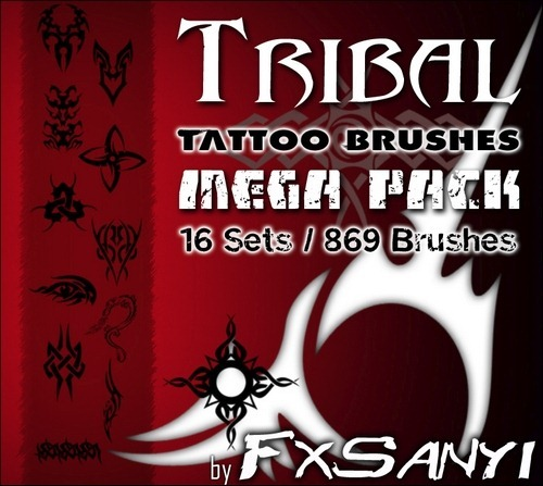 tribal-tattoo-brushes