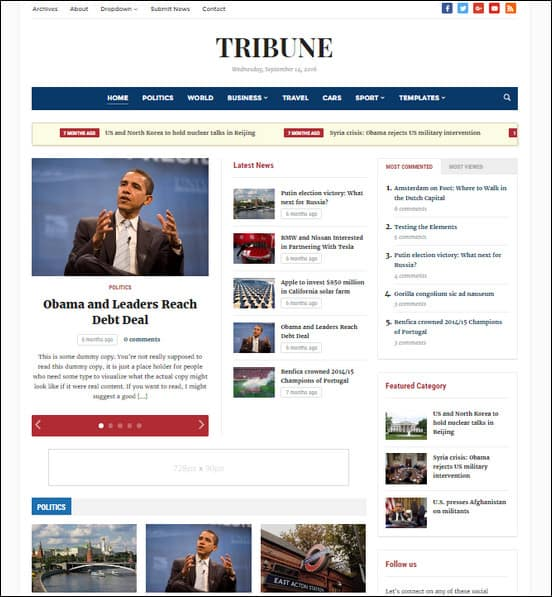 tribune wordpress theme