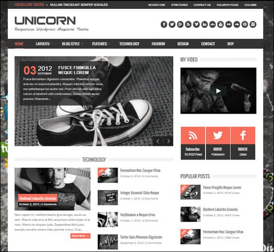 unicorn wordpress theme