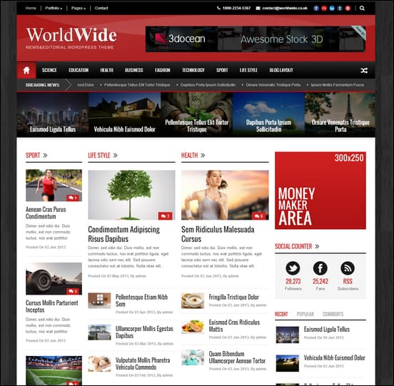 Powerful Wordpress Newspaper Themes