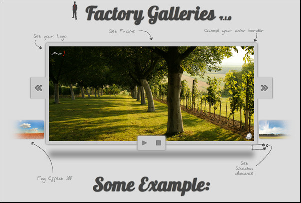 This is the Factory Galleries jQuery slider solution with nice sliding effects for both images and text
