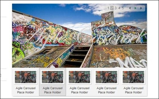 Agile jQuery Carousel comes in multiple flavours and it means it support different slider types.