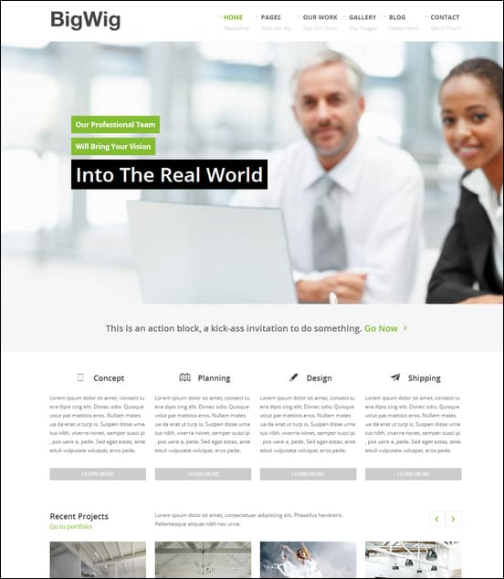 35 best responsive business wordpress themes want to stand out bigwig modern corporate retina wordpress theme friedricerecipe Images