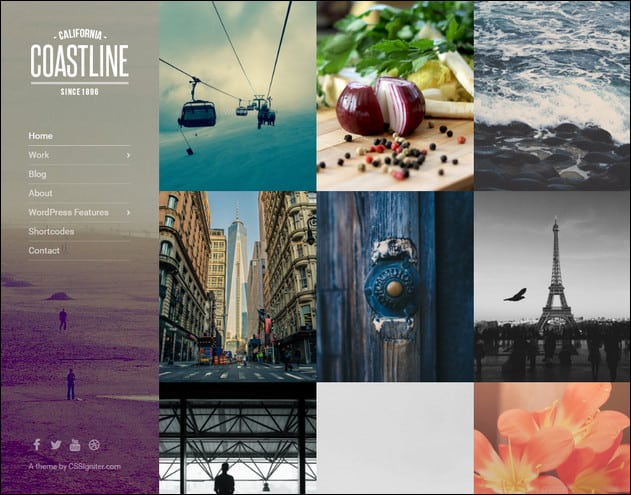Coastline Portfolio Theme for WordPress