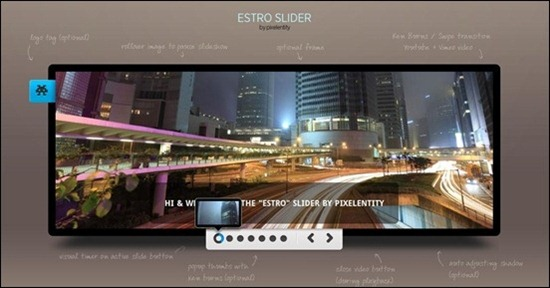 Estro is a cool jQuery Ken Burner slider using clean markup and it is SEO friendly.