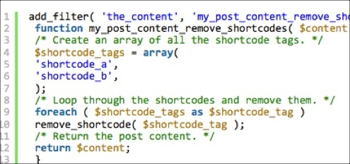 How To Disallow Specific Shortcodes in Post Content