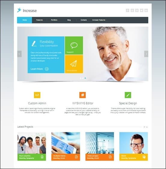 Increase - Premium WP Businesstheme