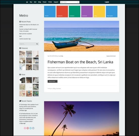 metro is a fully responsive UI inspired theme for wordpress