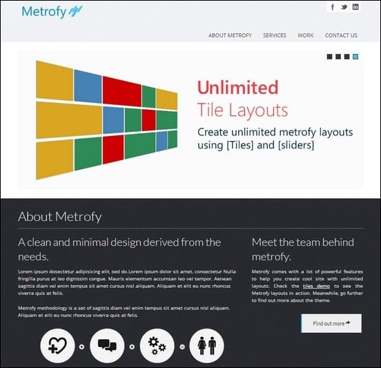 metrofy wp is a clean fully responsive theme for wordpress