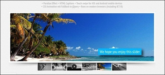 Here you see the Paradigm Slider jQuery plugin that offer stunning effects such as parallax