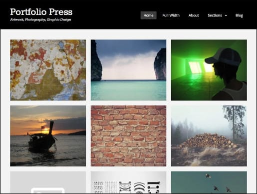 portfollio-press wordpress theme