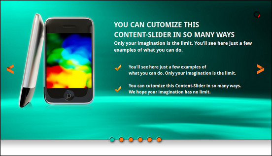 All in one Slider jQuery Banner Rotator / Content Slider is a jQuery slider with all the features one can imagine for adding slider effects to a website. It supports many types of slider layouts and it is fully mobile ready