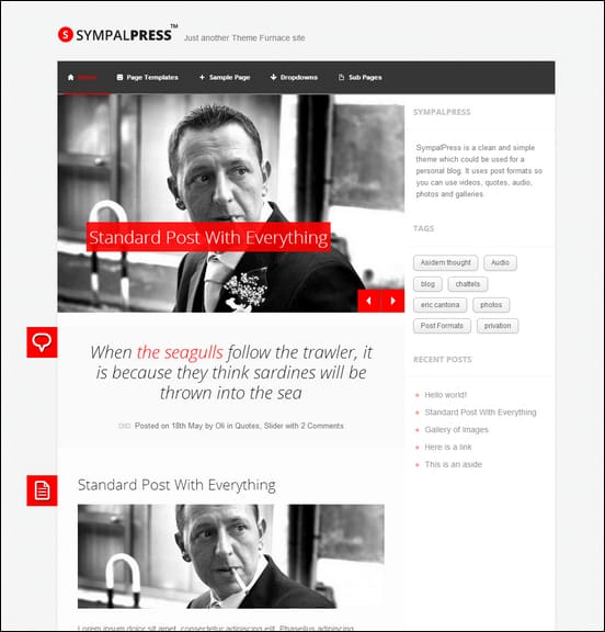 SympalPress WordPress Theme