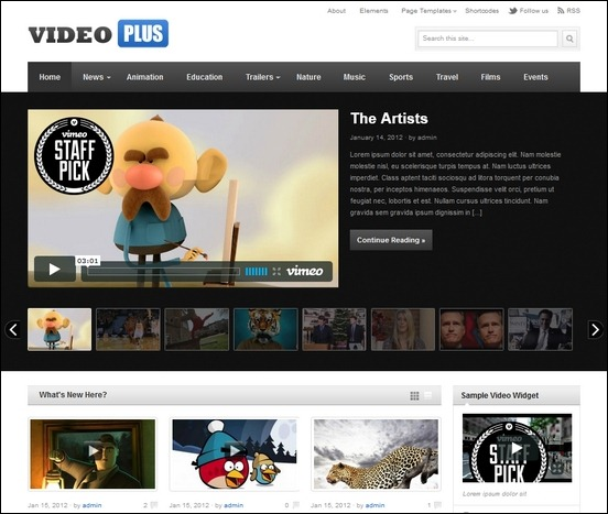 Video Plus theme for WordPress is a video magazine theme