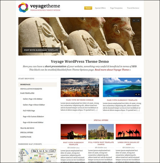 Voyage is the optimal news website template for building a travel news site.