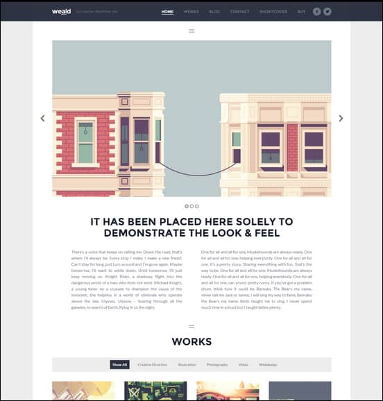 Weald - Flat Responsive Portfolio WordPress theme