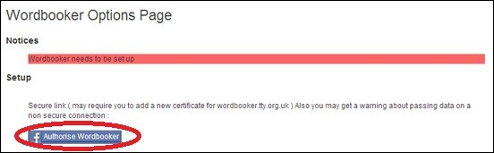 Authorize-Wordbooker-button-for-Facebook-Set-up