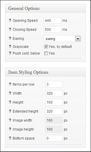 General-and-Item-Styling-Options