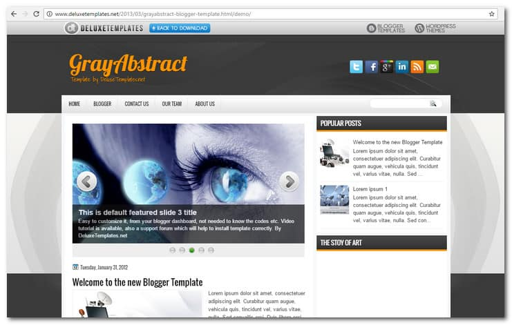GrayAbstract Blogger Template