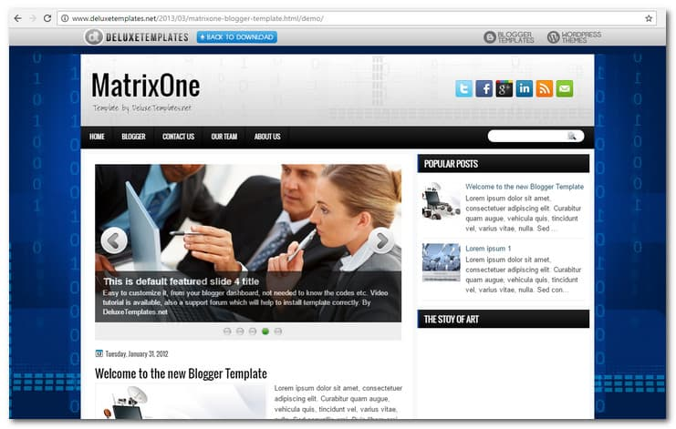 MatrixOne Blogger Template