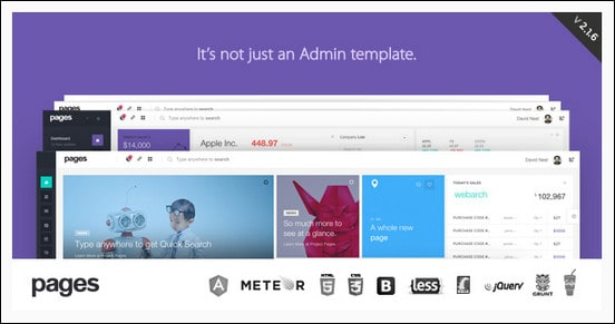 Pages - Admin Dashboard Template & Web App