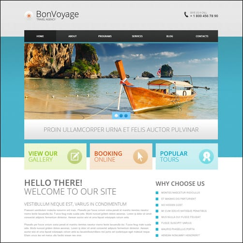 Travel Agency Responsive Drupal 7 Template