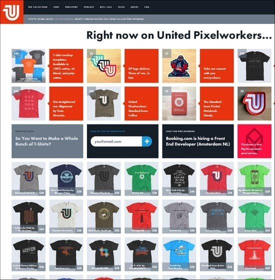 United Pixel Workers is a responsive e-commerce site